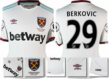 *16 / 17 - UMBRO ; WEST HAM UTD AWAY SHIRT SS + PATCHES / BERKOVIC 29 = SIZE*