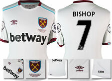 *16 / 17 - UMBRO ; WEST HAM UTD AWAY SHIRT SS + PATCHES / BISHOP 7 = SIZE*