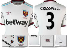 *16 / 17 - UMBRO ; WEST HAM UTD AWAY SHIRT SS + PATCHES / CRESSWELL 3 = SIZE*