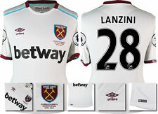 *16 / 17 - UMBRO ; WEST HAM UTD AWAY SHIRT SS + PATCHES / LANZINI 28 = SIZE*