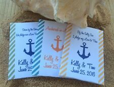 Nautical wedding seed packets with anchor