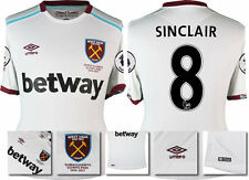*16 / 17 - UMBRO ; WEST HAM UTD AWAY SHIRT SS + PATCHES / SINCLAIR 8 = SIZE*