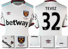 *16 / 17 - UMBRO ; WEST HAM UTD AWAY SHIRT SS + PATCHES / TEVEZ 32 = SIZE*