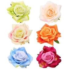 Large Fabric Rose Wedding Bride Hair Clip Pin Accessories Brooch Groom Corsage