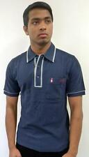 SALE! MENS MOD ORIGINAL PENGUIN LTD EDITION 1955 EARL POLO SHIRT (ECLIPSE)  -k46