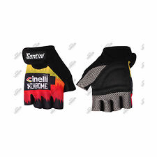 GUANTI SANTINI TEAM CINELLI CHROME 2016 ESTIVI SUMMER CICLISMO CYCLING GLOVES