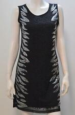 STELLA MORGAN FLORAL SEQUIN BEADED PARTY EVENING DRESS BLACK SIZE 8 10 12 14