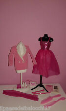 BARBIE DAY TO NIGHT '84 BORSA BODY GONNA SCARPE SABOT SCEGLI CLOTHES SHOES BAG