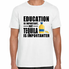 grabmybits Educazione is Importante,Tequila is Importanter T-Shirt,Divertente