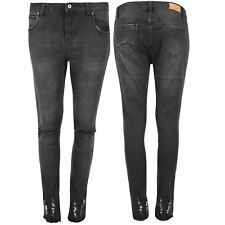 Womens Stretch Ankle Ripped Destroyed Ladies Cut Out Denim Trouser Skinny Jeans