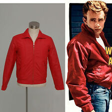 Rebel Without a Cause Jimmy James Byron Dean Jacket Coat Rouge Unisexe S-XXL