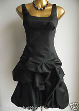MONSOON BLACK CARMEL HITCHED UP RUFFLE COCKTAIL PROM WEDDING PARTY EVENING DRESS