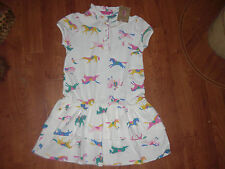 BNWT GIRLS JOULES JNR LAWN CREAM PONY DRESS IN AGE 8 OR 11-12 YRS.rrp £27.95