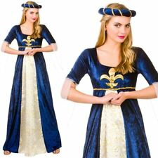 adulto MEDIEVALE MAIDEN donna costume travestimento dama Marion TUDOR Juliet