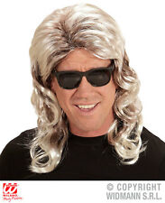 Mens 80s Mullet Wig Accessory for Pop Fancy Dress Cosplay Outfit