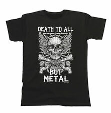 Death To All But METAL Mens/Ladies T-Shirt Unisex Fit Heavy Metal Music Skull