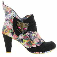 Irregular Choice Miaow Womens Black High Heel Party Ankle Boots  Size UK 5