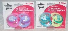 Tommee Tippee Girl Boy Cherry Latex Soothers 6 - 18 Mths Bpa Free New