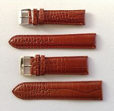 BROWN ALLI GRAIN ITALIAN CALF LEATHER STRAP 18MM TO 24MM OMEGA/TAG HEUER/PANERAI