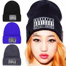 Fashion Winter Men Women Warm Plain Beanie Hip-hop Ski Knit Hats Cap ILOE