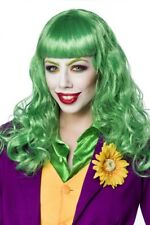 Carnevale accessorio travestimento parrucca verde donna joker lady new uy 80070