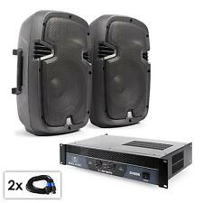 COPPIA ALTOPARLANTI SUBWOOFER AMPLIFICATORE PONTICELLABILE 2x 150W RMS + 800W