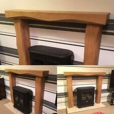 Oak Fire Surround Solid Rustic Made To Measure Fireplace Mantle Mantelpiece