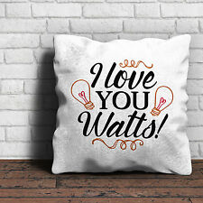 I Love You Watts Cushion - Love Valentines Gift Home