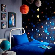 Cosmos Charcoal Space Pattern Planets Earth Childrens Wallpaper 668100