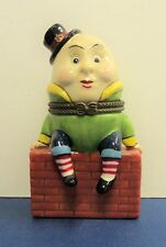 Ceramic Humpty Dumpty on a Wall Collectors Decorative Box with Soldier