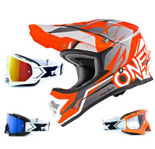 Oneal 3series CASCO freerider Fidlock Naranja Gris two-x Carrera Gafas CROSS
