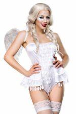 Travestimento carnevale sexy angelo bianco donna costume femminile hot uy 14454