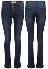 New Womens High Waist Stretch Bootcut Kick Flare Denim Jeans