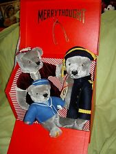 Terrific Limited Ed. MIB SET of THREE Merrythought England jointed teddy bears