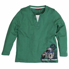 Salt and Pepper Jungen - Farmer Traktor Langarmshirt 2 in1 Green