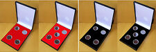 Black Slimline Case for 4/5 x 50p Coins including Coin Capsules - 1997 onwards