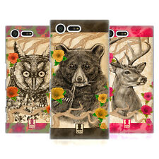 HEAD CASE DESIGNS STIPPLE ART ANIMALS HARD BACK CASE FOR SONY XPERIA X COMPACT
