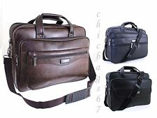 Sac Ordinateur Portable Messager Porte-documents Affaires Office Simili Cuir