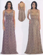Lace/Chiffon Long Mother Of The Bride/Groom Gown Formal Dress Party Evening 6~16