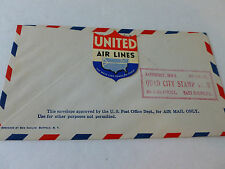 Moline illinois AirMail Air Port Dedication Cover 1939 (United Air Lines Stamp)