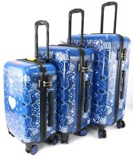 New 2 Wheel Lightweight Trolley Bag Luggage Travel Suitcase Set Cases UK Seller