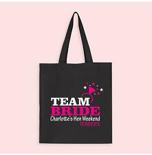 TEAM BRIDE HEN NIGHT PARTY PERSONALISED TOTE BAG HEN DO BAGS HEN PARTY BAG