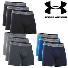 """Under Armour 2017 Mens Charged Cotton Stretch 6"""" Boxerjock 3-Pack Underwear"""