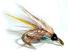 3x or 6x  SILVER INVICTA  (WFD49) WEE DOUBLE Trout, Sea Trout & Salmon Flies
