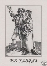 EX LIBRIS BOOKPLATE Rustic Couple