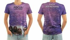 FOCUS - MOVING WAVES - FRONT & BACK LP COVER PRINT T-SHIRT - SIZE : LARGE