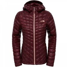 The North Face Damen Thermoball Hoodie Winterjacke Deep Garnet Red