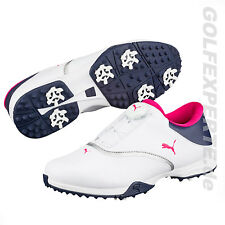 PUMA GOLF MUJER ZAPATOS DE GOLF FUEGO DISCO WHITE IMPERMEABLE CON PWRCOOL
