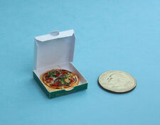 FABULOUS 1:12 Scale Dollhouse Miniature Realistic Pizza with Delivery Box #FP21