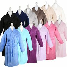 Bademantel flauschig warm elegant Sauna S-XL -100% Frottee SHAWL COLLAR BATHROBE